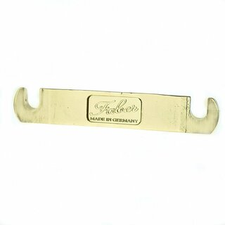 TP-59GG        Faber TP-59 Vintage Spec ALU Stop Tailpiece, Gold, glossy