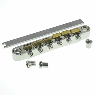 ABRL-59BG        	ABR-59 No Wire Vintage Spec Bridge, pat. pend. Locking System: Nickel plated, brass saddles, gloss