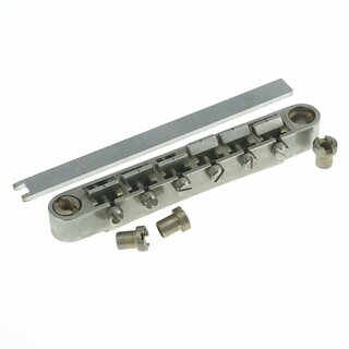 ABRL-59NA        	ABR-59 No Wire Vintage Spec Bridge, pat. pend. Locking System, nickel plated saddles, aged