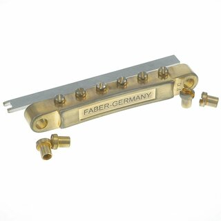 ABRL-59GA        	ABR-59 No Wire Vintage Spec Bridge, pat. pend. Locking System: Gold plated, saddles, aged