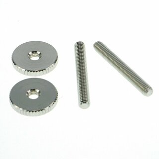 ST-MNG        		Faber 4mm, metric 59 ABR Studs and Thumbwheel Kit, (pair)  Steel, nickel plated, glossy
