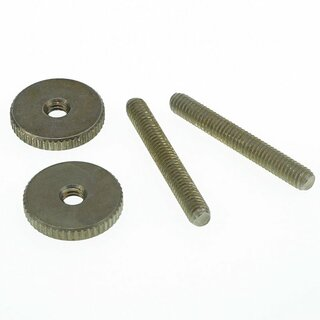 ST-MNA        		Faber 4mm metric, 59 ABR Studs and Thumbwheel Kit, (pair) Steel, nickel plated, aged