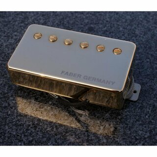 PUPCG-NGG        	Faber Pickup Concerto grosso -Neck- Classic 59 PAF -hand wound- Germany, Cover gold plated