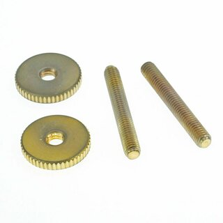 ST-IGA        		Faber 6-32 Inch 59 ABR Studs and Thumbwheel Kit, (pair) Steel, gold plated, aged