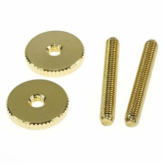 ST-MGG        		Faber 4mm, metric 59 ABR Studs and Thumbwheel Kit, (pair)  Steel, gold plated, glossy