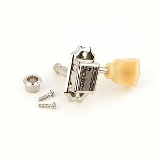 FKT33SB-NG        	Faber Kluson style tuners, 3+3, separate bushing, nickel glossy