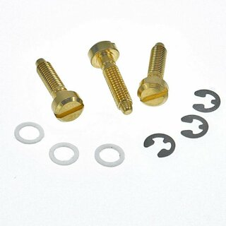 SS-GG (3pcs.)	Faber® Saddles Replacement screw, Brass, gold plated, glossy