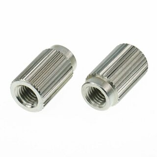TPI-ING        		Faber 5/16-24 Inch Tailpiece Inserts (pair) Steel, nickel plated, glossy