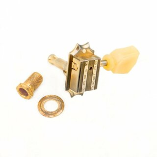 FKT33BB-GA        	Faber Kluson style tuners, 3+3, bolt bushing, gold aged