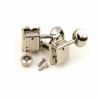 FKT6L-NG        	Faber Kluson style tuners, 6 in line, separate bushing, nickel glossy