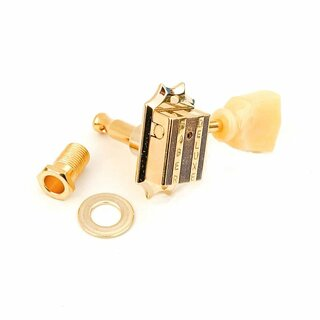 FKT33BB-GG        	Faber Kluson style tuners, 3+3, bolt bushing, gold glossy