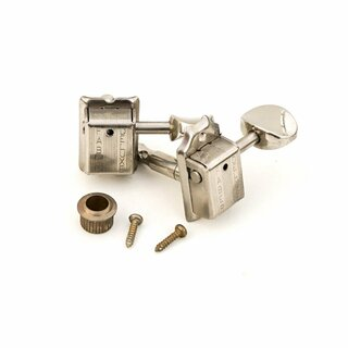 FKT6L-NA	Faber Kluson style tuners, 6 in line, separate bushing, nickel aged