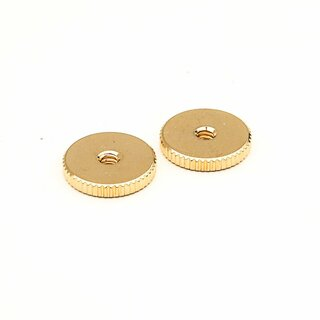 TW-IGG (2 pcs.) 	thumbwheels, inch 6-32,  gold plated, glossy