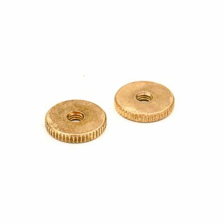 TW-IGA (2 pcs.) 	thumbwheels, inch 6-32,  gold plated, aged