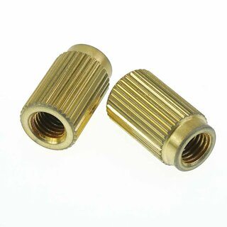 TPI-IGA        		Faber 5/16-24 Inch Tailpiece Inserts (pair) Steel, gold plated, aged